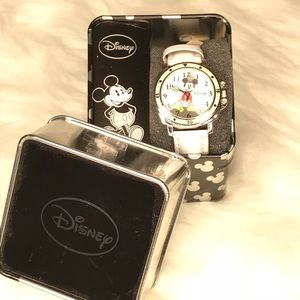 Disney's Mickey Mouse White Band Watch